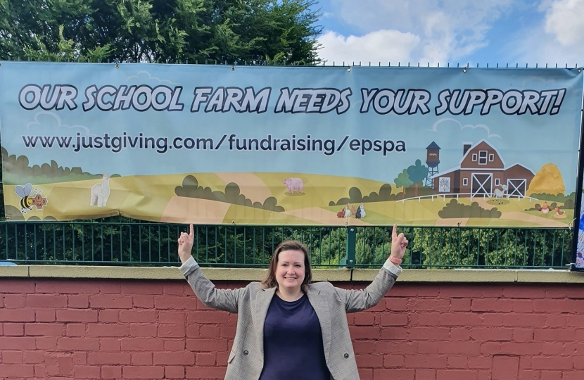 Ruth Edwards Visit to Edwalton School Farm